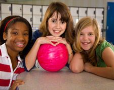 Children at a Bowling Alley in the Colony
